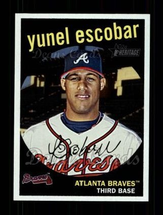 2008 Topps Heritage #356  Yunel Escobar