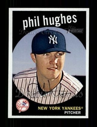 2008 Topps Heritage #92  Phil Hughes