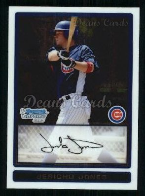 2009 Bowman Chrome Prospect #8 BCP Jericho Jones