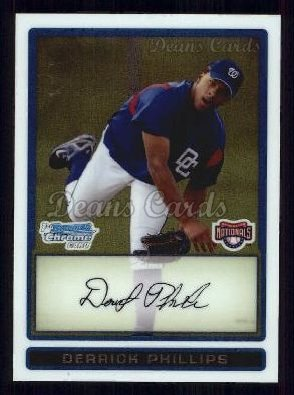 2009 Bowman Chrome Prospect #86 BCP Derrick Phillips