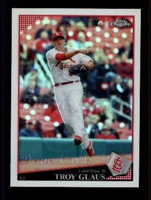 2009 Topps Chrome Refractor #131  Troy Glaus