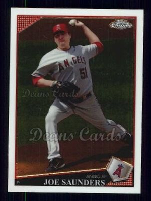 2009 Topps Chrome #85  Joe Saunders