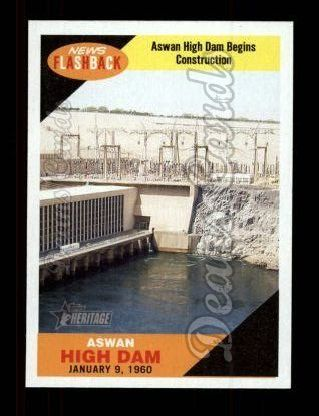 2009 Topps Heritage News Flash #1 NF  Aswan High Dam
