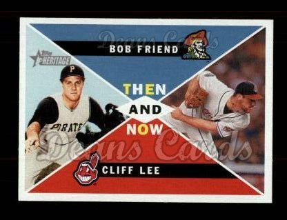 2009 Topps Heritage Then & Now #8 TN Bob Friend / Cliff Lee