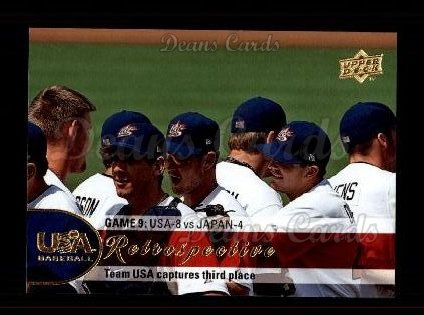 2009 Upper Deck #13 USA  USA Retrospective - Team USA Wins Bronze