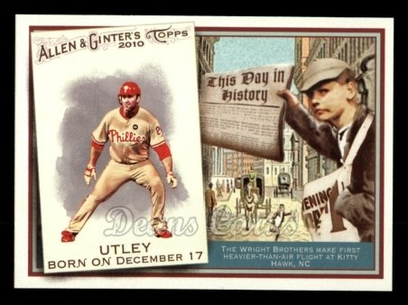 2010 Topps Allen & Ginter This Day In History #1 TDH  -  Chase Utley This Day in History