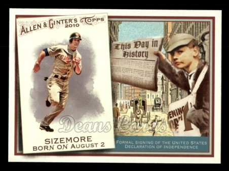 2010 Topps Allen & Ginter This Day In History #22 TDH  -  Grady Sizemore This Day in History
