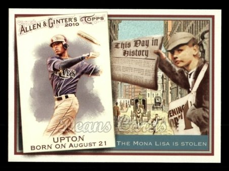 2010 Topps Allen & Ginter This Day In History #44 TDH  -  B.J. Upton This Day in History