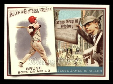2010 Topps Allen & Ginter This Day In History #72 TDH  -  Jay Bruce This Day in History