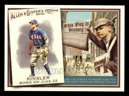 2010 Topps Allen & Ginter This Day In History #73 TDH  -  Ian Kinsler This Day in History
