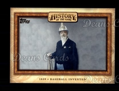 2010 Topps History of the Game #1 HOTG  History of the Game - Baseball Invented