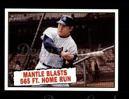 2010 Topps Heritage #406   -  Mickey Mantle Mantle Blasts 565 ft. Home Run