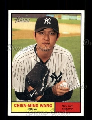 2010 Topps Heritage #424  Chien-Ming Wang
