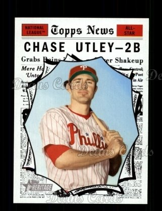 2010 Topps Heritage #466   -  Chase Utley All-Star