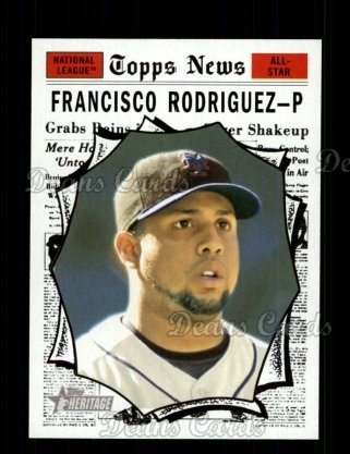 2010 Topps Heritage #500   -  Francisco Rodriguez All-Star