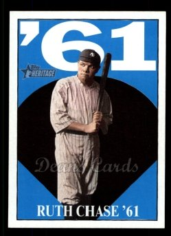 2010 Topps Heritage Ruth Chase 72 #12 BR Babe Ruth