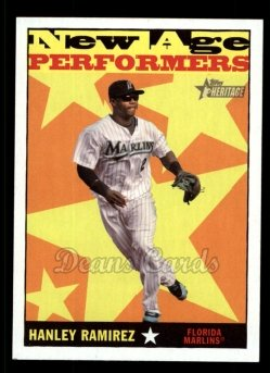 2010 Topps Heritage New Age Performers #5 NAP  -  Hanley Ramirez New Age Performers