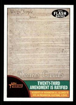 2010 Topps Heritage News Flashbacks #6 NF  News Flashbacks - Twenty Third Amendment