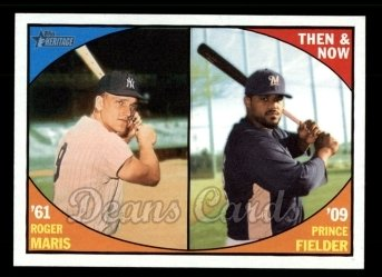 2010 Topps Heritage Then & Now #2 TN  -  Roger Maris / Prince Fielder Then and Now
