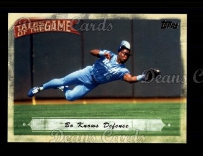 # TOG16 Bo Knows Wall Climbing - 2010 Topps Tales of the Game