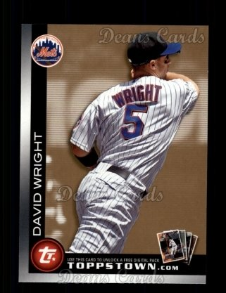 2010 Topps Ticket to Topps Town #2 TTT  -  David Wright Ticket to Topps Town
