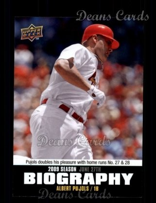 2010 Upper Deck Season Biographies #102 SB Albert Pujols