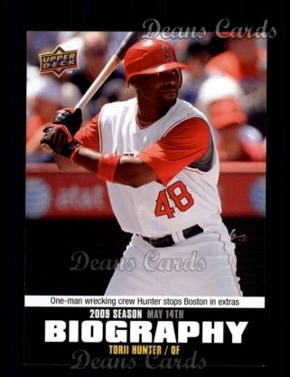 2010 Upper Deck Season Biographies #45 SB Torii Hunter