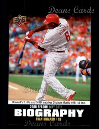 2010 Upper Deck Season Biographies #64 SB Ryan Howard