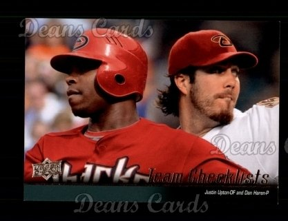 2010 Upper Deck #571   -  Justin Upton / Dan Haren Diamondbacks Team Checklist