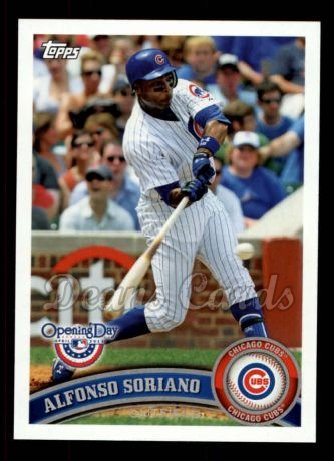2011 Topps Opening Day #220  Alfonso Soriano