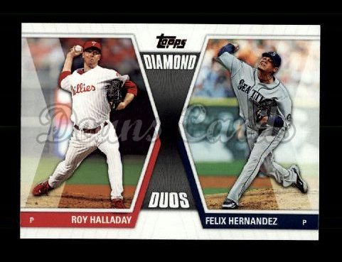 2011 Topps Diamond Duos #18 DD2  -  Roy Halladay / Felix Hernandez Diamond Duos