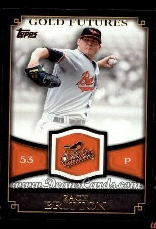 2012 Topps Gold Futures #2 GF  -  Zach Britton Gold Futures