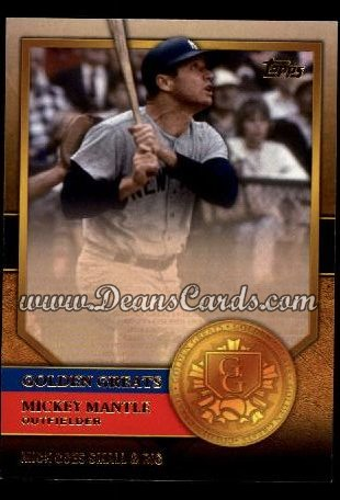 2012 Topps Golden Greats #35   -  Mickey Mantle Mick Goes Small & Big