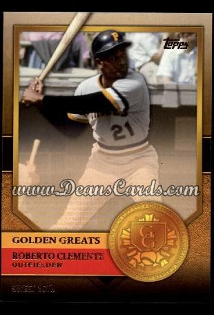 2012 Topps Golden Greats #36   -  Roberto Clemente Sweet 16th