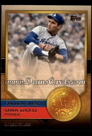 2012 Topps Golden Greats #50   -  Sandy Koufax More With Less