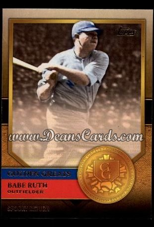 2012 Topps Golden Greats #71   -  Babe Ruth Spooky Return