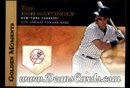 2012 Topps Golden Moments Series 1 #13 GM  -  Don Mattingly Don Streaks Toward Mark