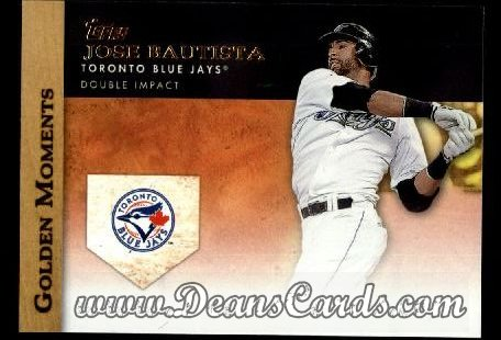 2012 Topps Golden Moments Series 1 #2 GM  -  Jose Bautista Double Impact