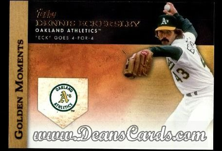 2012 Topps Golden Moments Series 1 #23 GM  -  Dennis Eckersley Eck Goes 4-For-4