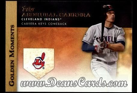 2012 Topps Golden Moments Series 1 #37 GM  -  Asdrubal Cabrera Cabrera Keys Comeback