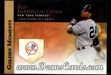 2012 Topps Golden Moments Series 1 #39 GM  -  Robinson Cano Cano Staves Off Rays