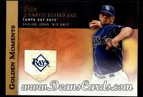 2012 Topps Golden Moments Series 1 #49 GM  -  James Shields Shields Joins Big Unit