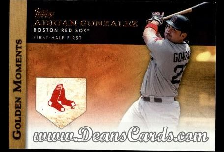 2012 Topps Golden Moments Series 1 #5 GM  -  Adrian Gonzalez First-Half First