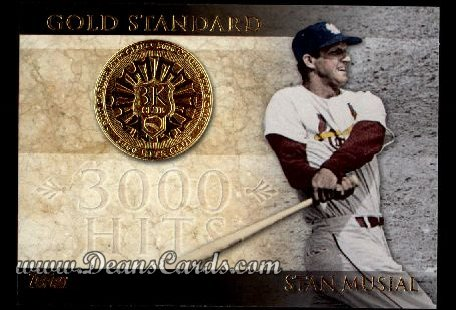 2012 Topps Gold Standard #2 GS  -  Stan Musial 3,000 Hit Club