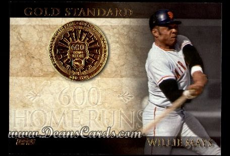 2012 Topps Gold Standard #25 GS  -  Willie Mays 600 Home Runs