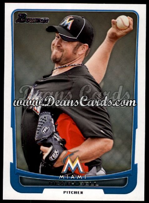 2012 Bowman #138  Heath Bell