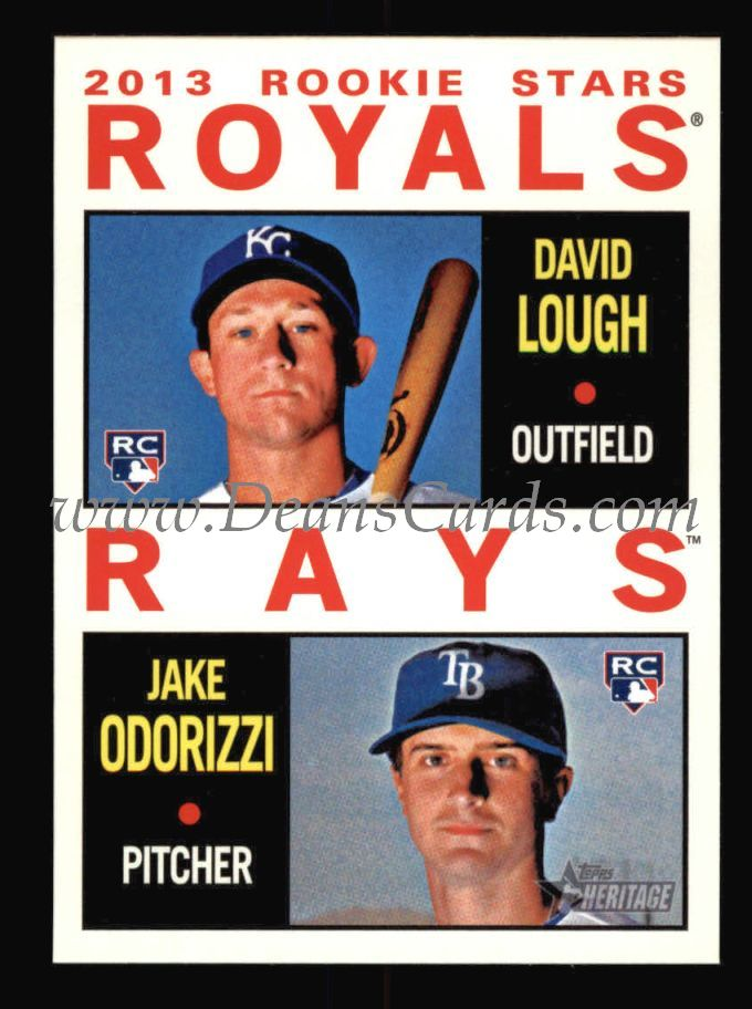 2013 Topps Heritage #408   -  David Lough / Jake Odorizzi Rookies