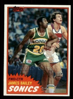 1981 Topps #96 W James Bailey