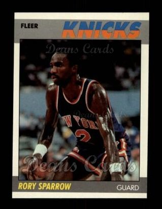 1987 Fleer #102  Rory Sparrow