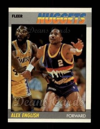 1987 Fleer #34  Alex English